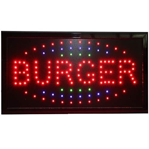 - CHENXI Led pizza burger panini hot dog hamburger tacos shop open sign direct Selling custom Graphics indoor running 48X25 CM food store led sign (48 X 25 CM, D)
