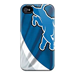 Iphone 4/4s Uth14876kYBD Unique Design Lifelike Detroit Lions Pattern Perfect Hard Phone Cases -ErleneRobinson
