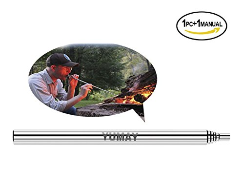 Yumay Collapsible Fire Tool Campfire Tool Pocket Bellow Builds Fire By Blasting Air ,Outdoor Gear for Hunting Fishing Camping traveling.