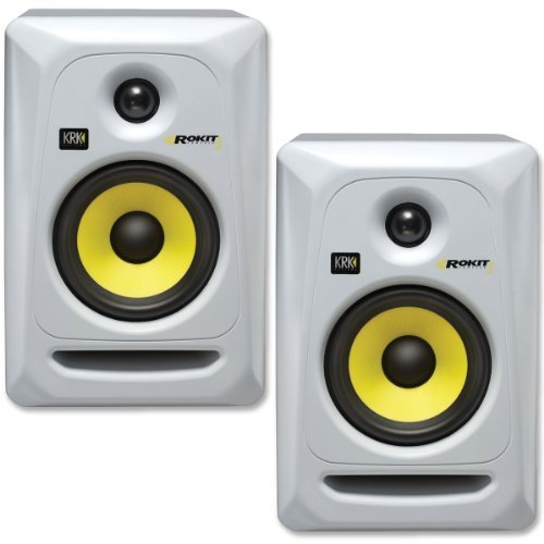 KRK RP5G3W-NA Rokit 5 Generation 3 Powered Studio Monitor - White - Pair