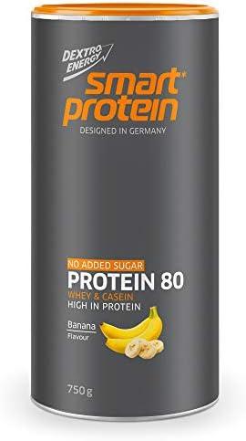 Smart Protein 80 Eiweißpulver Banane | 750 g Protein Pulver | Idealer Eiweißshake mit Whey Protein und Casein Protein