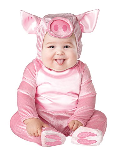 Farm Animal Costumes (InCharacter Costumes Baby's This Lil' Piggy Costume, Pink, Medium)