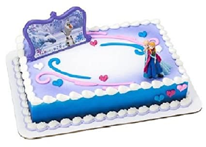 Amazon CakeDrake FROZEN Anna ELSA Olaf Snowflake Follow Your
