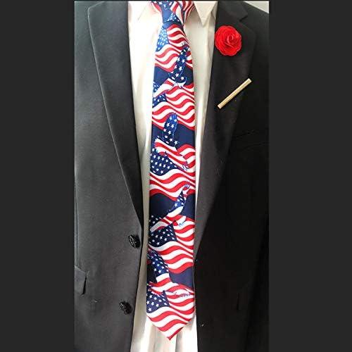 Amosfun Corbata de Hombre Bandera Americana Corbata de Corbata ...
