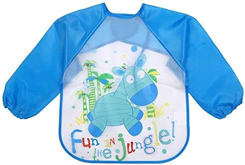 Baby Child Bibs Apron Waterproof Eva Kids Feeding Burp Cloths with Long Sleeves