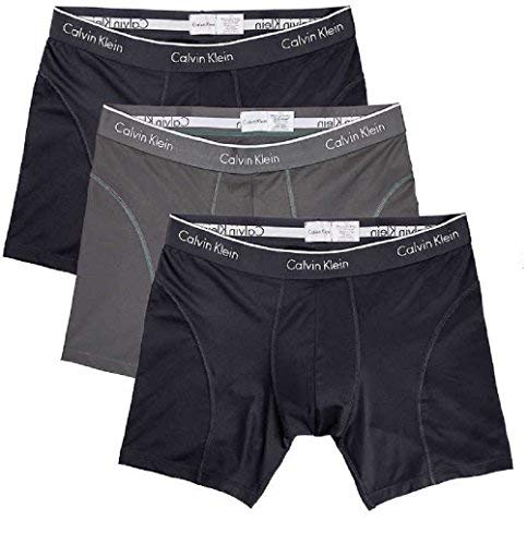 Calvin Klein Boxer Brief Extreme Comfort Breathable Mesh New Style (3 Pack) (Medium, Black - 3 Pack)