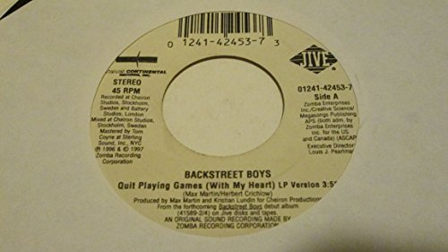 Backstreet Boys - Quit Playing Games (With My Heart) (LP Version) / Lay Down Beside Me - 45RPM - Vinyl Records Backstreet Boys