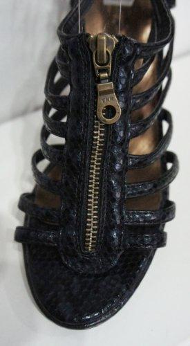 Sandal noir Cage Stiletto Avant Vert Citron Brevet Zip fAxpqpPBw