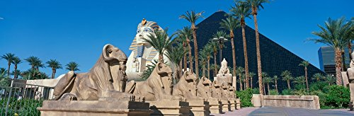 Posterazzi PPI161032S Panoramic View of Luxor Hotel with Pyramid and Sphinx Casino in Las Vegas NV Poster Print, 27 x 9