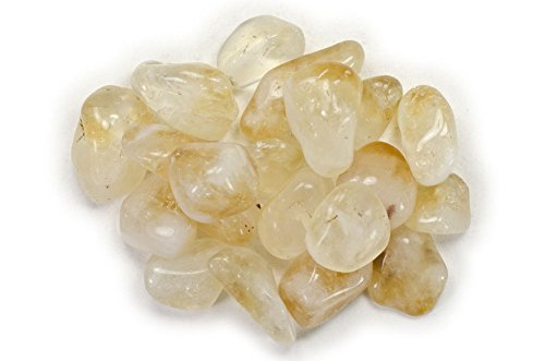 Hypnotic Gems Materials: 1 lb Citrine Tumbled Stones A Grade from Brazil - Bulk Natural Polished Gemstone Supplies for Wicca, Reiki, and Energy Crystal HealingWholesale Lot