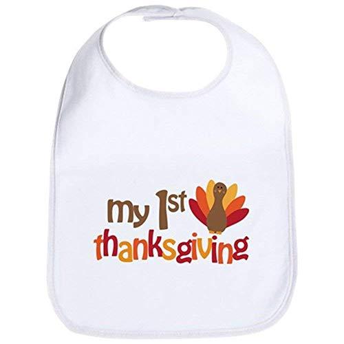 Price comparison product image - My 1st Thanksgiving Bib - Cute Cloth Baby Bib