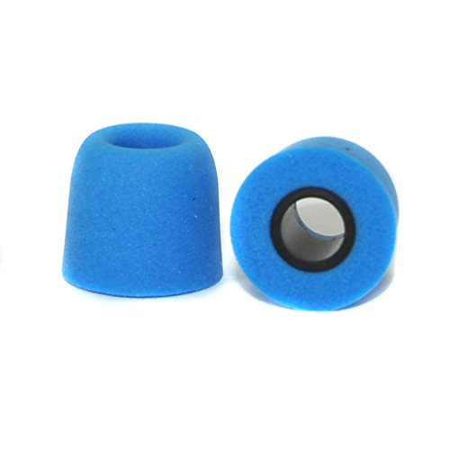6 Packs (12 Pieces) 4.9mm Memory Foam Earbud Tips Earphone Replacement Sponge Cover T-400 Medium-Size (Blue)