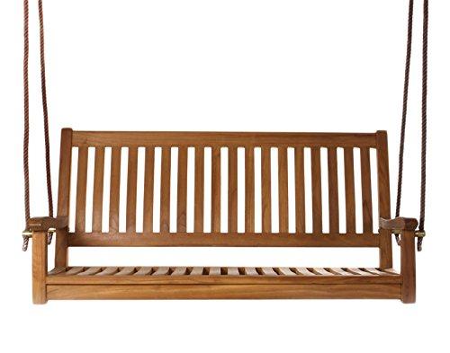 Amazon.com : All Things Cedar TS50 Teak Swing : Garden