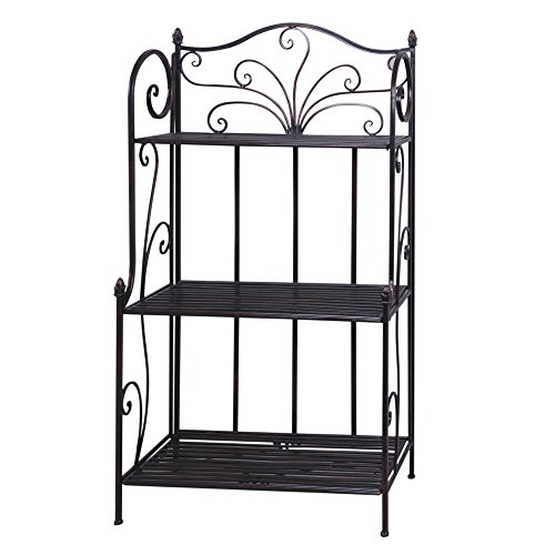 Bakers Rack Antique Bronze Metal- 27 1/2