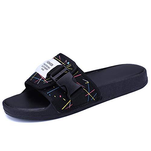 Pantofole 3 Dimensione 39 1 Da Nero Scarpe Per Antiscivolo Rosso EU da Uomo Colore Pantofole spiaggia pantofole Wagsiyi Sandali 1Uw56aRZq