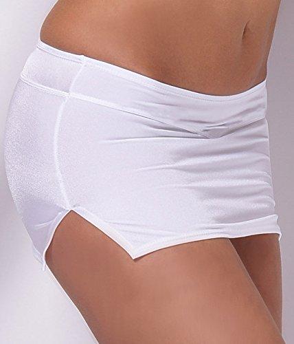 Blanc encoches Dinal jupe stretch mini sexy en pages avec Blanc xqwqPzvYF