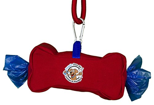 Doggie Doo All Wipes & Bags Dispenser, Fire Engine Red/Ro...