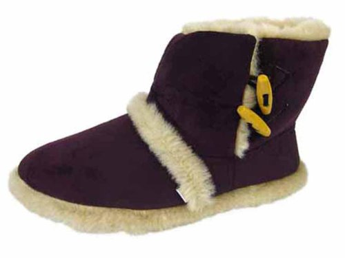 Coolers Sizes 8 Girls Boot Slippers Furry Toggle Bootee Purple 3 Ladies Ankle S5O8qww