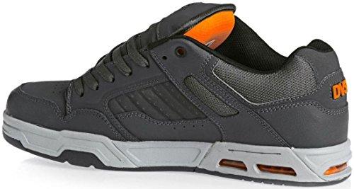 DVS Enduro Heir Grey Orange Leather Mens Skate Trainers Shoes-8