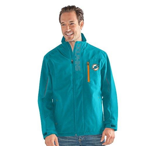 G-III Sports by Carl Banks Adult Men Energy Soft Shell Full Zip Jacket, Aqua, Large -