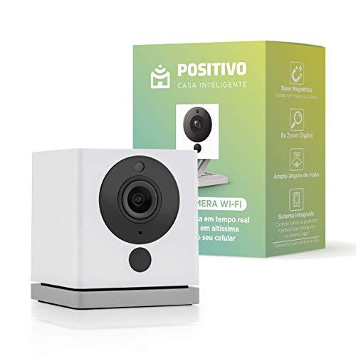 Positivo Casa Inteligente - Smart Câmera Wi-Fi, 1080p FullHD, Ângulo Amplo de 110 graus, Áudio Bidirecional, Controlado via Celular, Fácil Instalação, Compatível com Alexa