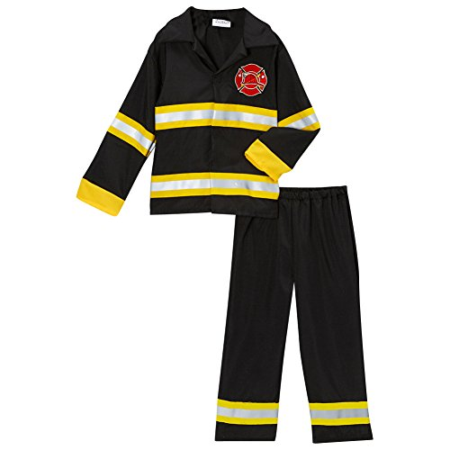 Fireman Fire Fighter Halloween Dressup Costume, Size 6/8 (Storybook Costume)