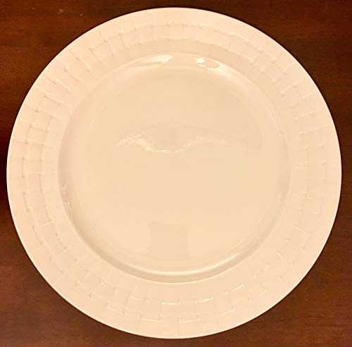 (LENOX. SPADE OAKWILDE LANE - WHITE SALAD/ACCENT PLATE - 10.5 INCH #885447. sold individually)