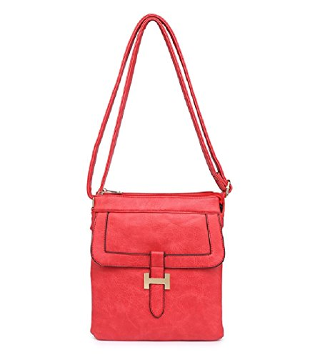 Women's Front Ladies Messenger Travel MA34955 Handbag Cross Red Body Bag wIqRfxSdq