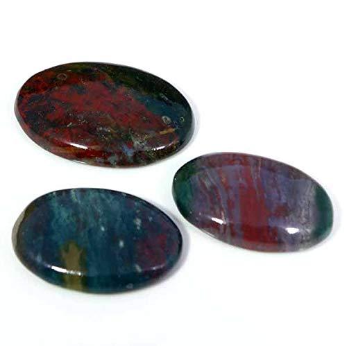 148.70CTS. Natural Superb Designer LOT of 3PCS Blood Stone Oval CAB Gemstones