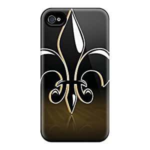Excellent Iphone 4/4s Case Tpu Cover Back Skin Protector New Orleans Saints