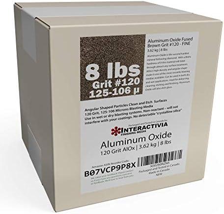 酸化アルミニウム#120-8ポンド - キャビネットやブラストガン用の細かいサンドブラスト研磨材。