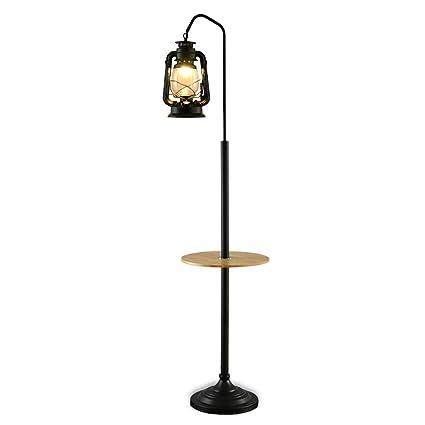 Lámpara de pie, lámpara de Queroseno Negra nostálgica Retra ...