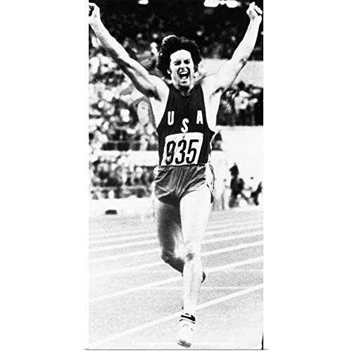 (GREATBIGCANVAS Poster Print Entitled Bruce Jenner just After Crossing The Finish line by)