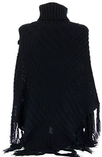 Charleselie94® - Poncho - para mujer negro