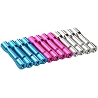 iFlight M3x35mm Aluminum Column Standoffs Spacer for RC Multicopter (pack of 12 pcs) (Pink/Blue/Silver)