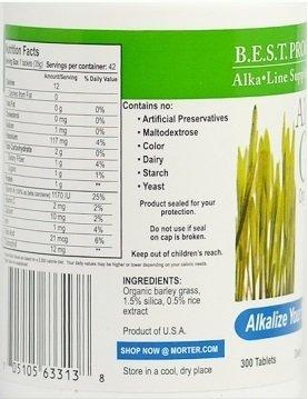 Dr. Morter's Alka Green Tablets (12 Morter HealthSystem bottles/pk - $28.33/bottle) by Morter HealthSystem (Image #2)