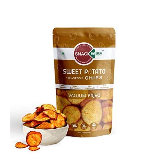 SnackWise Vacuum Fried Vegetable Chips, Sweet Potato, 30g