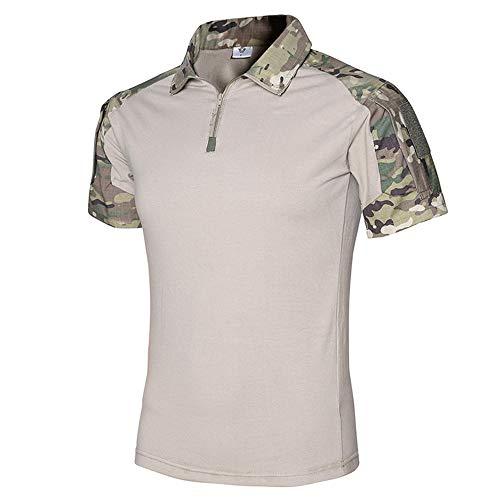 - Tactical Combat Short Shirt Military Camo Short Sleeve T-Shirt for Airsoft Paintball (CP, XXL)