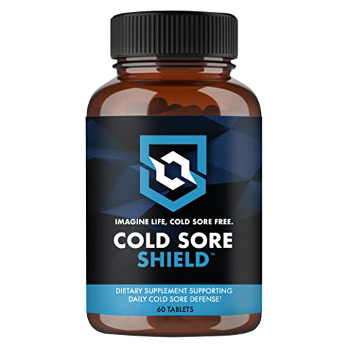 COLD SORE SHIELD Daily Cold Sore Defense Supplement (60 Tablets) Immune Support Lip Blister & Cold Sore Treatment With Vitamin C and L Lysine - No More Surprise Breakouts!