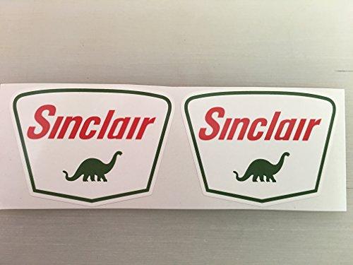 (2 Sinclair Gasoline Gas Oil Diecut Decal by SBD Decals)