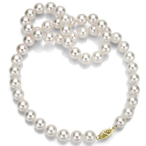 Yellow Gold Akoya Cultured Pearl - 6