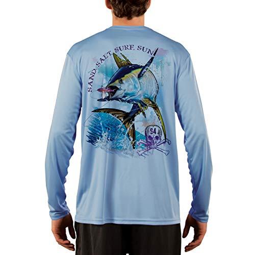 - SAND.SALT.SURF.SUN. Tuna Men's UPF 50+ Long Sleeve T-Shirt XXXX-Large Columbia Blue