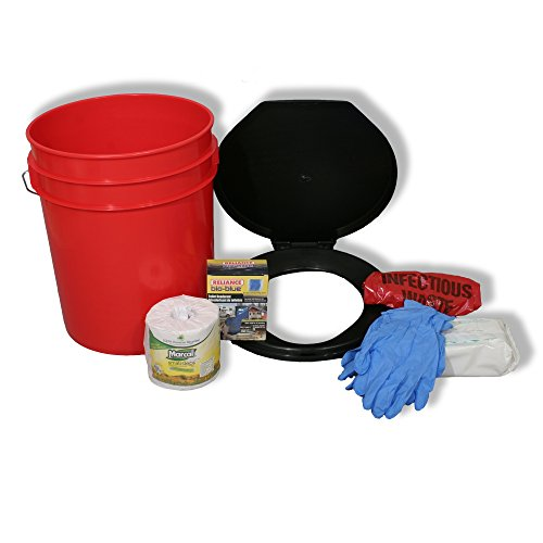 Ready America 71640 Emergency Toilet Bucket Kit for 1-4 Persons for dispersed camping, remote camping, boondocking