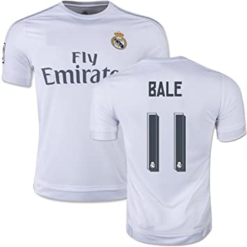release date c06c7 d188f Real Madrid White / Grey / Navy / Black Kids Soccer Jersey Ronaldo #7 /  Bale #11 w/ FREE Shorts Set Kit Youth Sizes YS / YM / YL by Young Star  Sports