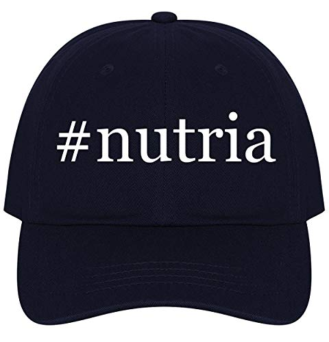 The Town Butler #Nutria - A Nice Comfortable Adjustable Hashtag Dad Hat Cap, Navy - Fur Nutria Coat