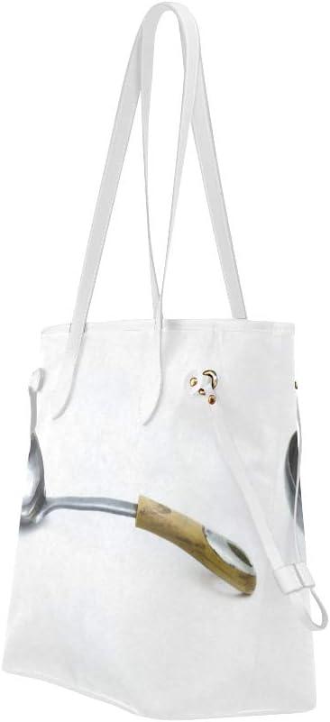 Work Handbag A Variety of Spoons Dinner Casual Handbag Unique Handbags Large Capacity Water Resistant with Durable Handle
