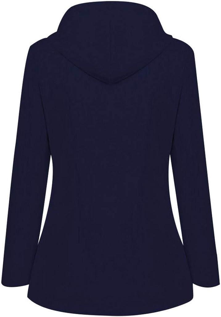 7Lucky Womens Jacket Top Ladies Outdoor Waterproof Windbreaker Long Sleeve Stripe Hooded Raincoat Jacket Plus Size Loose Coat Navy