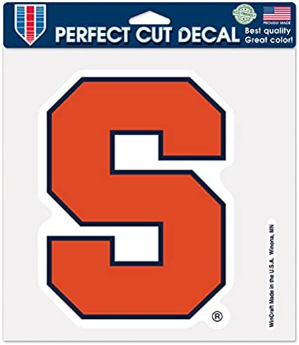 NCAA Syracuse Orange Perfect Cut Color Decal 8 x 8-Inch
