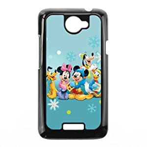 HTC One X Cell Phone Case Black Disney Mickey Mouse Minnie Mouse WLE