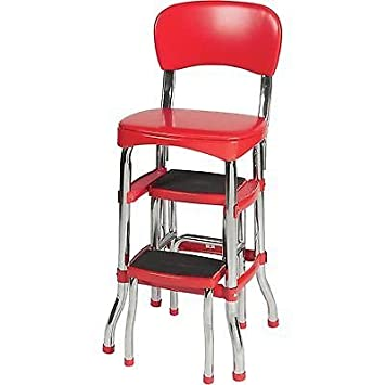 Swell Amazon Com Barstools New Red Retro Step Stool With Chair Ocoug Best Dining Table And Chair Ideas Images Ocougorg